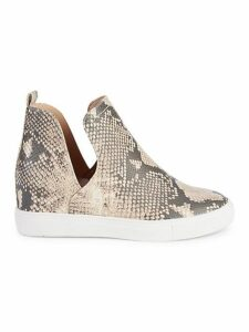 Cabrea Snake-Print High-Top Sneakers