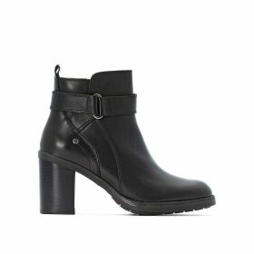 Pompeya Leather Ankle Boots