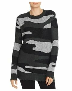 Aqua Cashmere Camo Jacquard Cashmere Sweater - 100% Exclusive