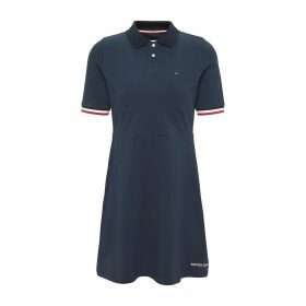 Cotton Polo Dress with Short Sleeves