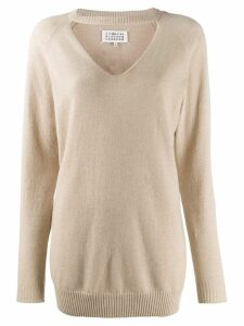 Maison Margiela cut out jumper - Brown