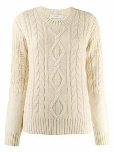 Pringle of Scotland traditional cable stitch jumper - NEUTRALS