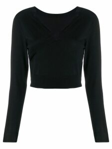 P.A.R.O.S.H. Lob knitted top - Black