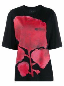 Simone Rocha flower print boxy fit T-shirt - Black