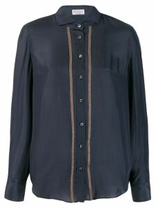 Brunello Cucinelli crystal trim shirt - Blue
