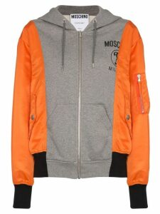 Moschino contrasting zipped hoodie - Multicolour