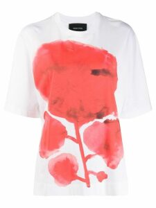 Simone Rocha flower print boxy fit T-shirt - White