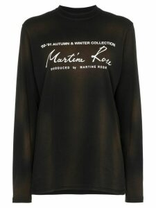 Martine Rose logo-print long-sleeve T-shirt - Black