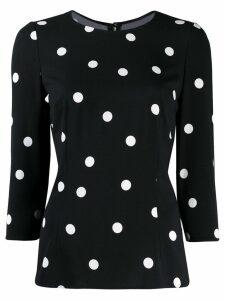 Dolce & Gabbana polka dot blouse - Black