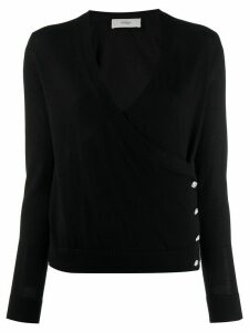 Pringle of Scotland V-neck wrap jumper - Black