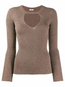 P.A.R.O.S.H. cut out jumper - Brown