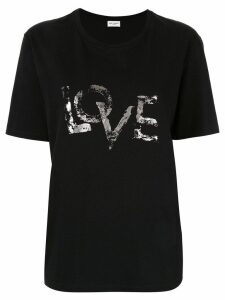 Saint Laurent love print T-shirt - Black