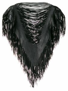 Caravana fringe cape blouse - Black