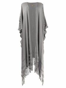 Caravana draped cardi-coat - Grey
