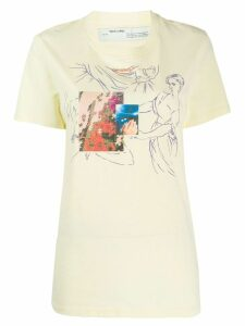 Off-White graphic print T-shirt - Yellow
