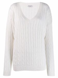 Brunello Cucinelli V-neck jumper - White
