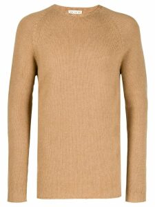 Ma'ry'ya ribbed knit detail sweater - NEUTRALS
