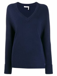 Chloé V-neck cashmere jumper - Blue