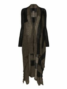 Rick Owens long asymmetric cardigan - Brown