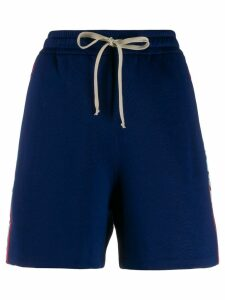 Gucci GG Web Bermuda shorts - Blue