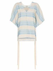 Lee Mathews Tilda striped poncho top - Blue