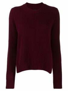 Isabel Marant raised seam jumper - Red