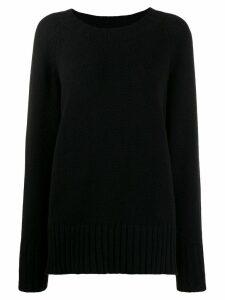 Maison Margiela oversized knitted sweater - Black