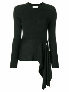 3.1 Phillip Lim Ribbed Side-Tie Sweater - Black