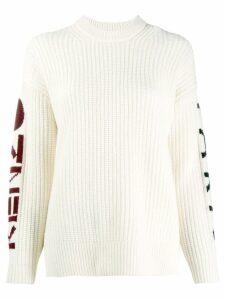 Kenzo chunky knit logo sweater - White