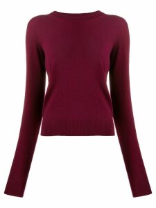 Maison Margiela elbow detail knitted sweater - Red