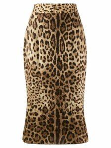 Dolce & Gabbana leopard-print skirt - NEUTRALS