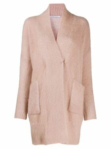 Agnona Moere over cardigan - PINK