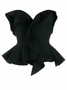 Ermanno Scervino peplum bustier - Black