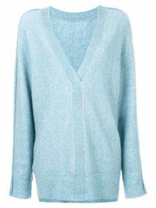 3.1 Phillip Lim V-Back Sweater - Blue