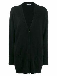 P.A.R.O.S.H. V-neck longline cardigan - Black