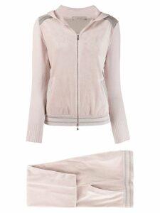 D.Exterior zip up hoodie - PINK