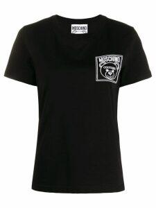 Moschino logo patch t-shirt - Black