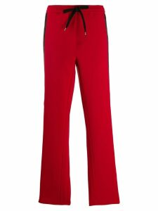 Nº21 side stripe track pants - Red