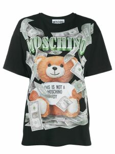 Moschino Teddy dollar logo T-shirt - Black