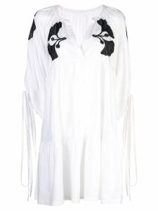 Cynthia Rowley Penelope Embroidered Dress - White