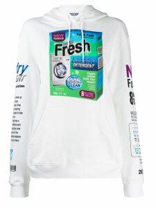 Moschino laundry detergent print hoodie - White
