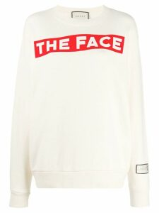Gucci The Face print sweatshirt - NEUTRALS