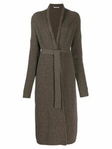 Agnona cashmere long cardigan - Brown