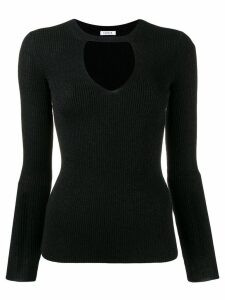 P.A.R.O.S.H. ribbed cut out jumper - Black