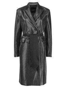 Ermanno Scervino metallic trench coat - SILVER