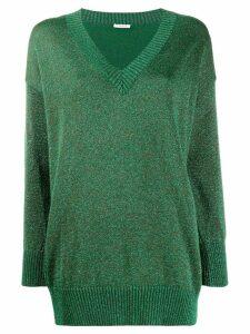 P.A.R.O.S.H. glitter v-neck jumper - Green