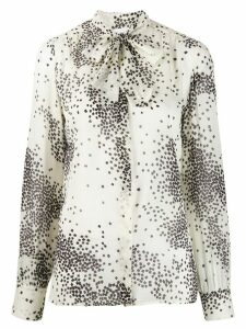 Giambattista Valli graphic squares blouse - White