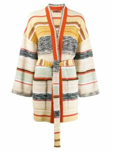 Missoni color block stripes cardigan - NEUTRALS
