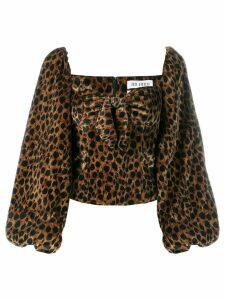 The Attico leopard print blouse - Black