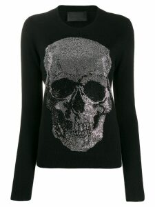Philipp Plein skull embellished sweater - Black